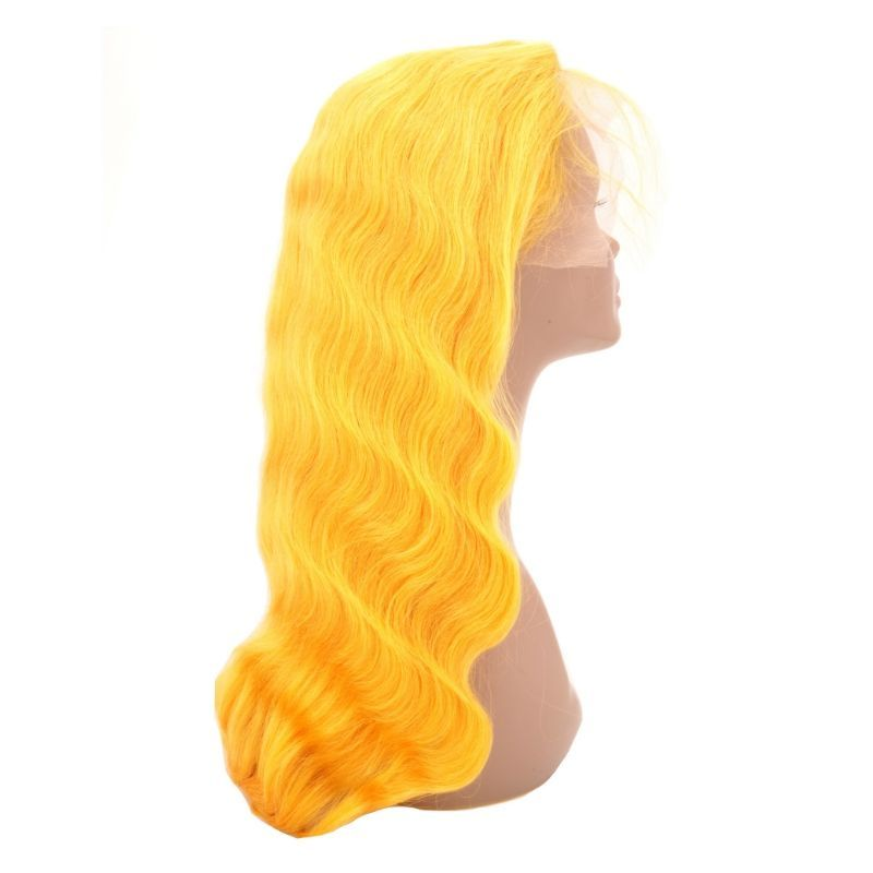 Yellow-flame-front-lace-wig
